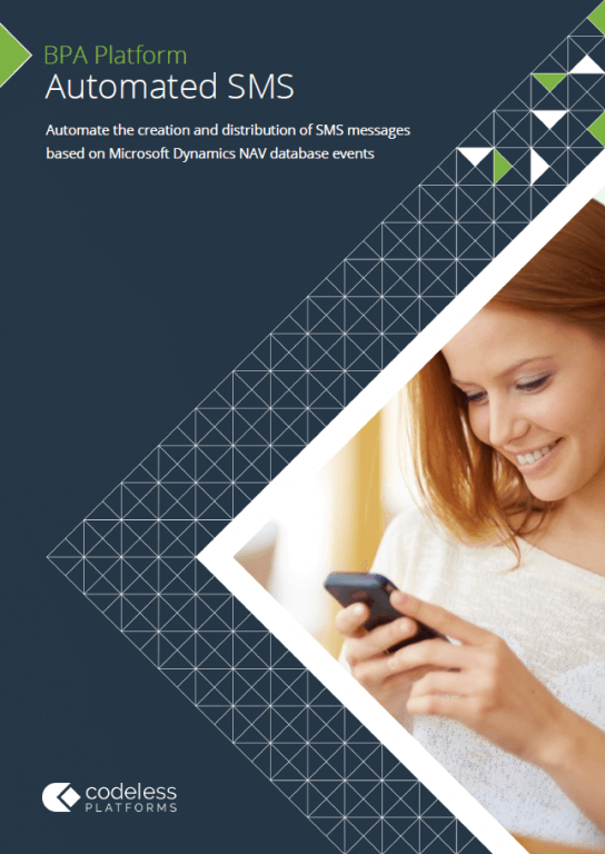 Automated SMS for Microsoft Dynamics NAV Brochure