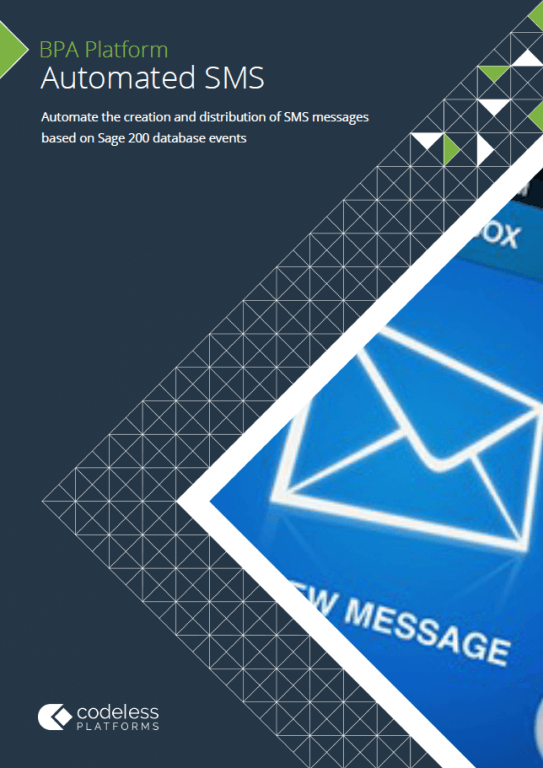 Automated SMS for Sage 200 Brochure