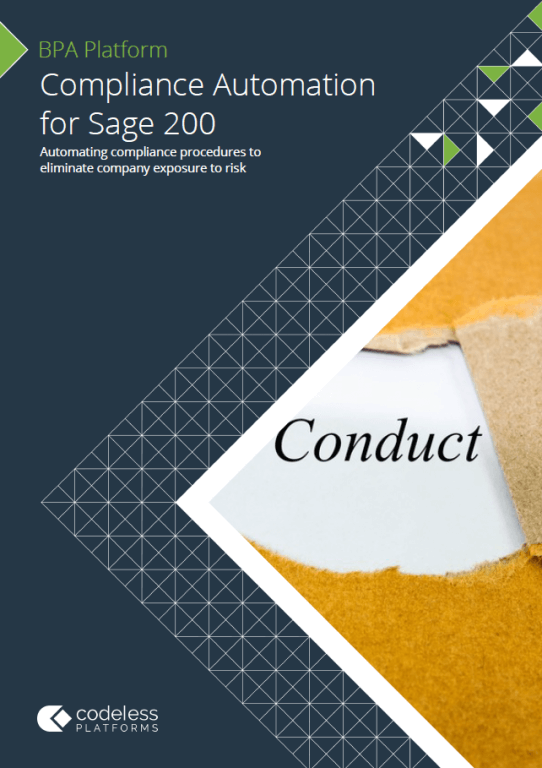 Compliance Automation for Sage 200 Brochure
