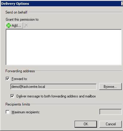 Forward Mail to the Email Trigger (SMTP) Agent - Exchange 2010