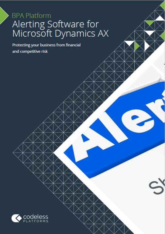 Alerting Software for Microsoft Dynamics AX Brochure
