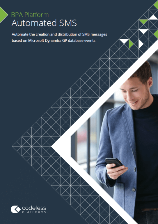 Automated SMS for Microsoft Dynamics GP Brochure