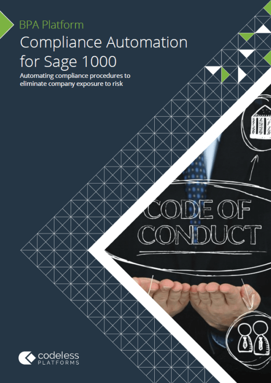 Compliance Automation for Sage 1000 Brochure