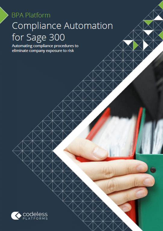 Compliance Automation for Sage 300 Brochure