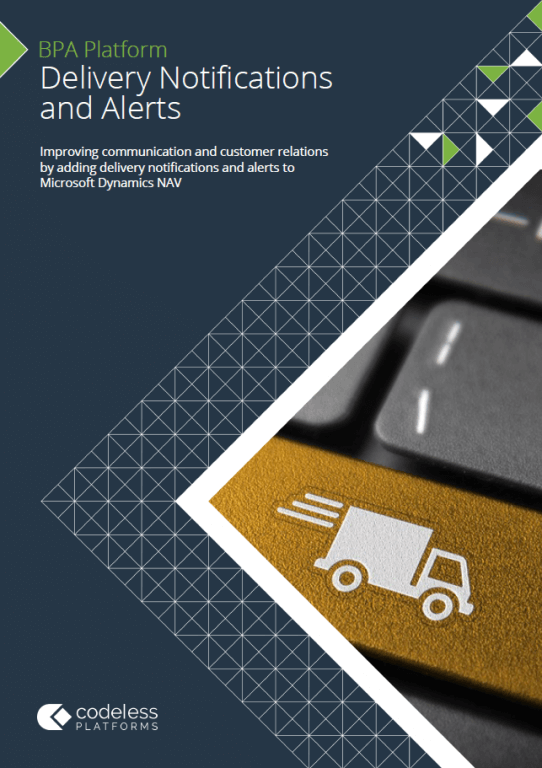 Delivery Notifications & Alerts for Microsoft Dynamics NAV Brochure