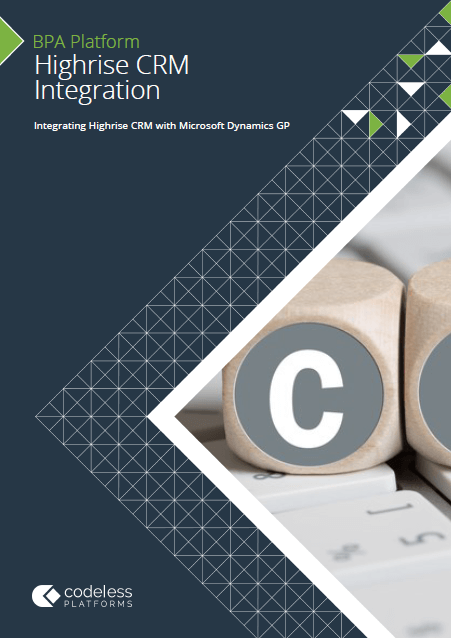 Highrise CRM Microsoft Dynamics GP Integration Brochure