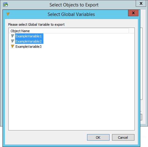 Exporting Global Variables