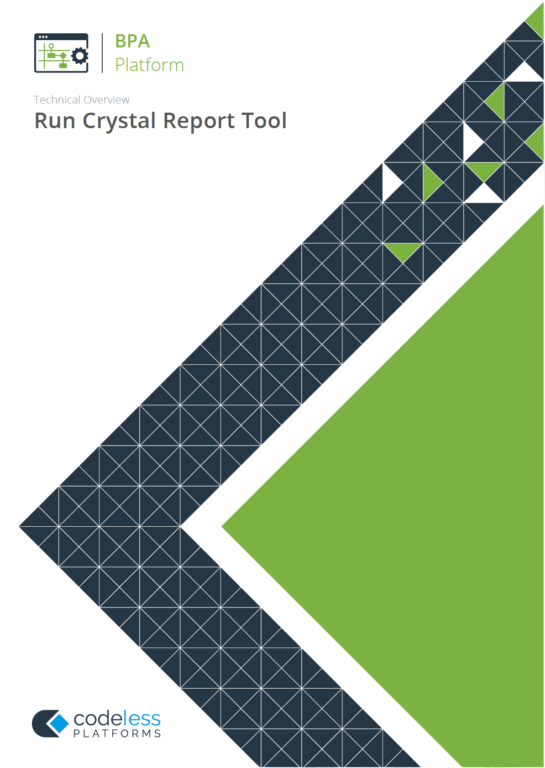 Run Crystal Report Tool - Crystal Reports Automation Whitepaper