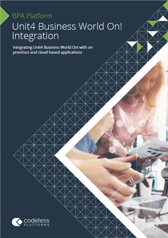 Unit4 Business World On Integration Drag And Drop Solution