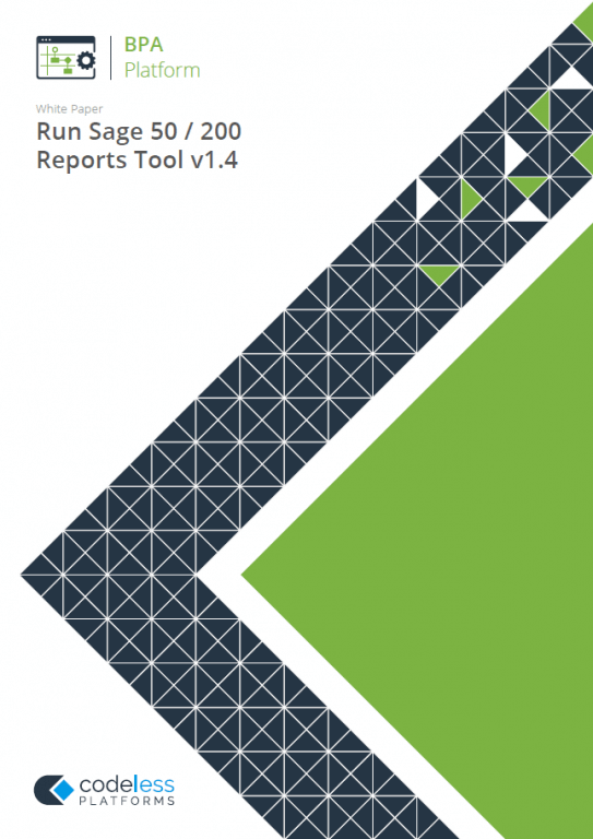 Run Sage 50 / 200 Reports Tool - Sage Reports Automation