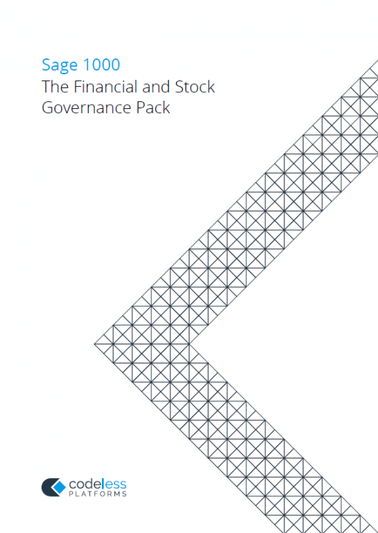 Financial and Stock Governance Pack for Sage 1000 Brochure