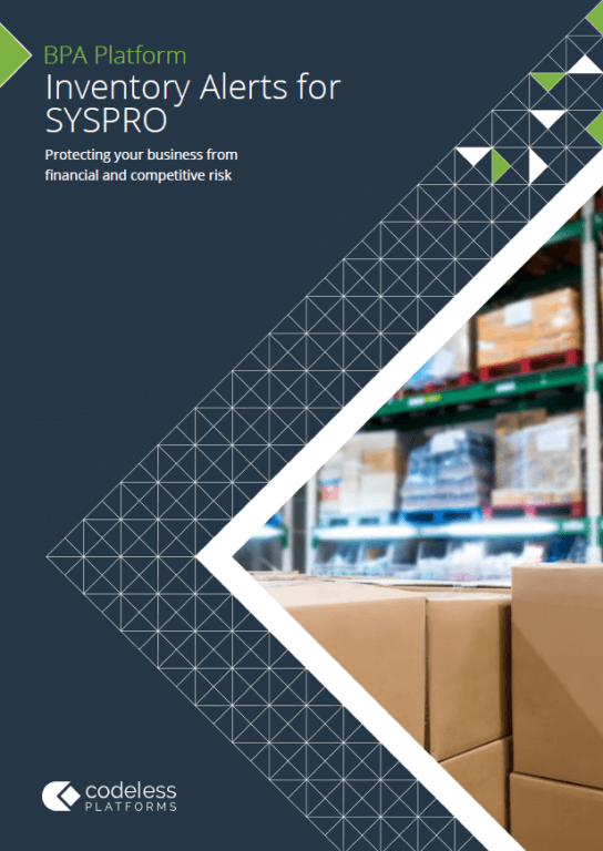 Inventory Alerts for SYSPRO Brochure