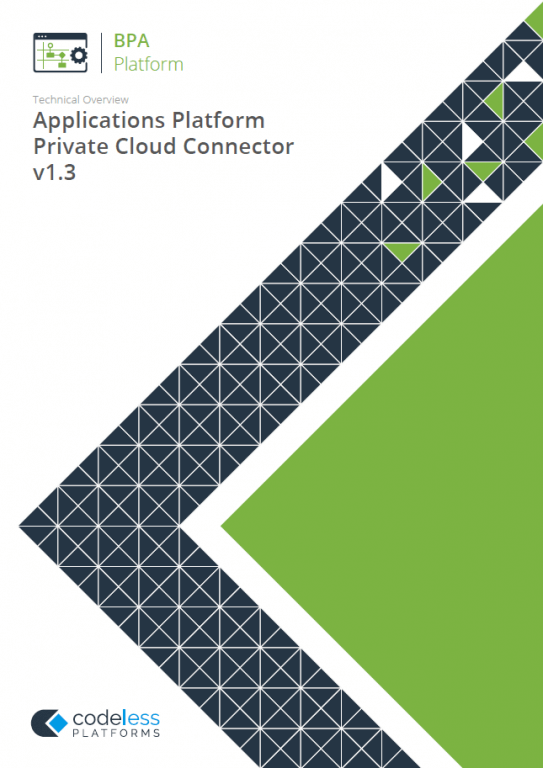 Applications Platform Private Cloud Connector v1.3 Technical Overview