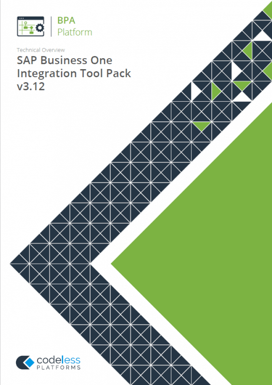 White Paper - SAP Business One  Integration Tool Pack 3.12