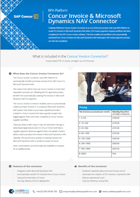 Concur Invoice Connector for Microsoft Dynamics NAV