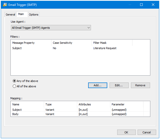 Email Trigger (SMTP) Tool