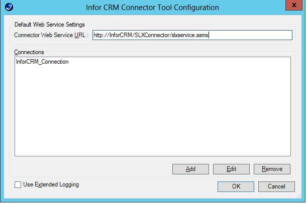 infor crm connector