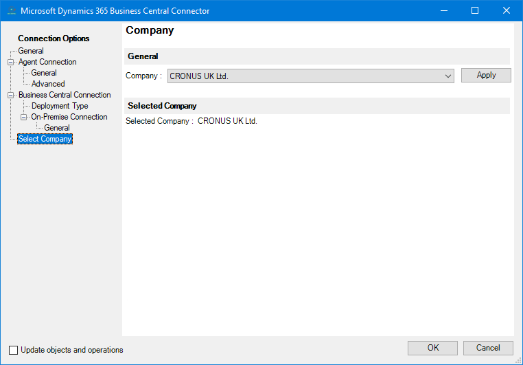 Microsoft Dynamics 365 Business Central Connector v1.1